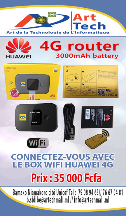 HUAWEI 4G Routeur 3000mAh battery